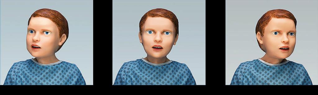 Movimento da cabeça horizontal (robótica ativa)