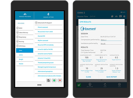 Dispositivo OMNI 2 com interface do software