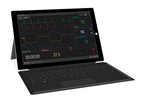 Monitor portátil com sinais vitais