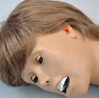 Canal auditivo simulado para gotas óticas e irrigação