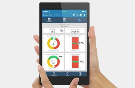 Dispositivo OMNI 2 com interface de software